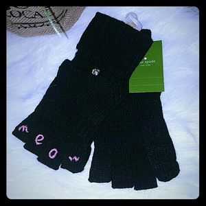 Kate spade meow Cat mittens gloves